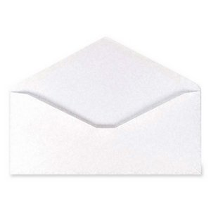 100% Recycled Paper Business Envelope, V-Flap, #10, White, 500/Box, Sold as 1 Box