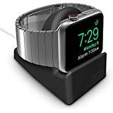 Orzly Compact Stand for Apple Watch - Nightstand Mode Compatible - Black Support Stand with...