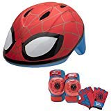 Marvel Spiderman Toddler Skate / Bike Helmet Pads & Gloves - 7 Piece Set (Spiderman Knee Pads)