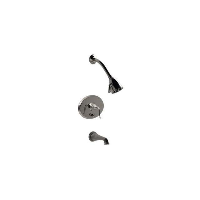 Santec 1134FL TM40 40 48 Satin Nickel/Polished Nickel Bathroom Faucets Pressure Balanced Tub & Shower Set Faucet   Bathtub And Showerhead Faucet Systems