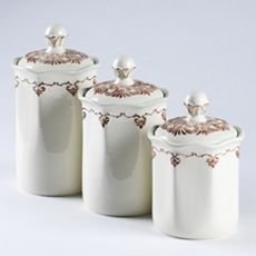 white kitchen canister sets ceramic set of 3 white ceramic kitchen canisters 26219