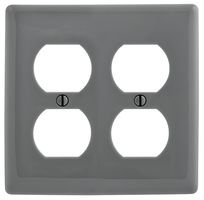 Duplex Hubbell Wiring Device (HUBBELL WIRING DEVICES NP82GY WALL PLATE, 2 GANG, 2 DUPLEX, GREY)