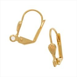 - UnCommon Artistry Gold Plated Lever Backs with Shell Designer Ear Wires (12)