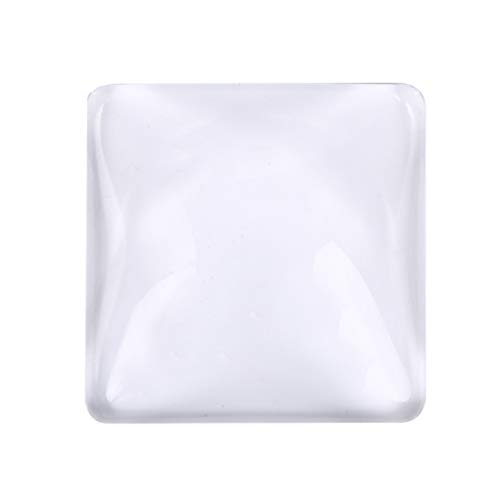 (10 PCS Bezel Pendant Trays Square Cabochon Settings Cabs Pendant Blanks, 1 inch /25mm)