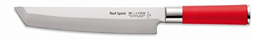 (F. Dick Red Spirit Tanto Blade Asian Inspired Kitchen Knife - Ideal For Chefs - Cuts Meat And Vegetables - Made In Germany)