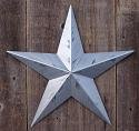 16 Inch Rustic Metallic Silver Barn Star Made with Galvanized Metal to Prevent Rusting. Amish Hand Made Your Source for Heavy Duty Metal Tin Barn Stars and Primitive Style Stars for Your Country Crafts and Home and Garden Decor. American Handcrafted – Made in the Usa!