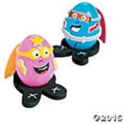 Superhero Easter Egg Decorating Craft Kit - Makes 12