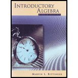 Introductory Algebra, Bittinger, 0201435330