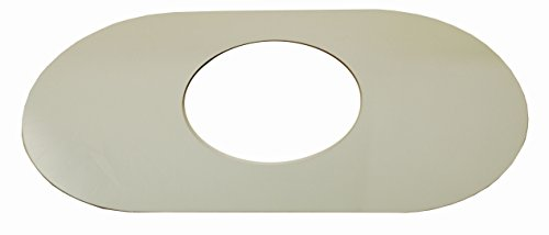 Smitty Plate, One Hole, Used to Cover Shower Wall Tile, Acrylic in Mirror Finish - By PlumbUSA #38100 (Plate Renovation Cover)