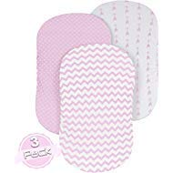 Bassinet Sheet Set | Cradle Fitted Sheets for Bassinet Mattress/Pads | Super Soft Jersey Knit Cotton | 3 Pack | 150 GSM |DOTS Collection by BaeBae Goods …