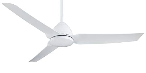 """54"""" Minka Aire Java Flat White Outdoor Ceiling Fan with Remote Control"""