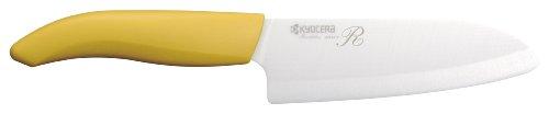 교세라(KYOCERA) 세라믹 삼덕 부엌칼 옐로우 140mm 표백제 균OK  KR-140X