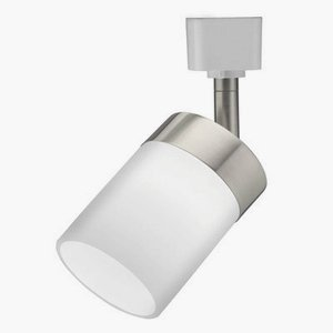 Lithonia Lighting LTKCYLD BN M4 Three Light MR16GU10 Track Kit, Brush Nickel Finish with Clear Glass, White