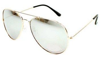 Gafas de sol espejadas, grandes y clásicas de estilo Aviator ...