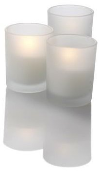 2'' LED Votive In Frosted Glass Bulk Value Pack of 72 by D'light Online