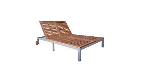 Comfyleads New Sunlounger Daybed Acacia Wood Garden Patio Furniture 81