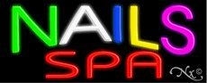 Nails Spa Handcrafted Real GlassTube Neon Sign