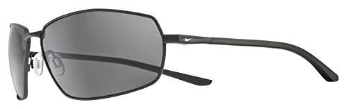 Nike Men's Pivot Eight Rectangular Sunglasses, Satin Black, 63 mm