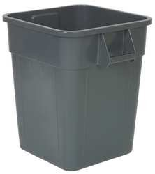 28 gal. Square Gray Trash Can by Tough Guy