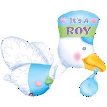 STORK Baby It's a BOY Blue Hanging Party SHOWER 32