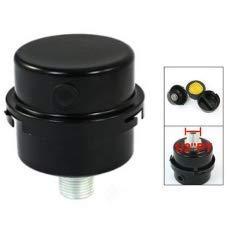 compresseur accessoires de raccord filet/é 1//2 Silencieux pour filtre dair de rechange en m/étal noir compresseur dair pour compresseur sans huile filtre dair