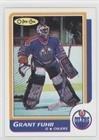 Grant Fuhr (Hockey Card) 1986-87 O-Pee-Chee - Blank Back #N/A (1986 87 O Pee Chee Hockey Cards)