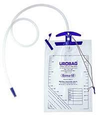 Romsons ROMO 10 URINE bag with Moulded handle, 2000ml (Pack of 6 bags)