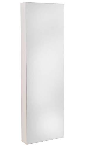 Lightclub Shopde Schuhschrank Schuh Bert 500 Mirror Drehbarer Spiegelschuhschrank Spiegel Weiß Höhe 150cm
