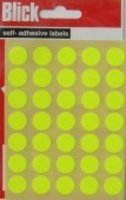 Blick Label Fluorescent Bag 13mm Yellow Pack of 140 RS004752 Pack of 20 - Blick Label Bag