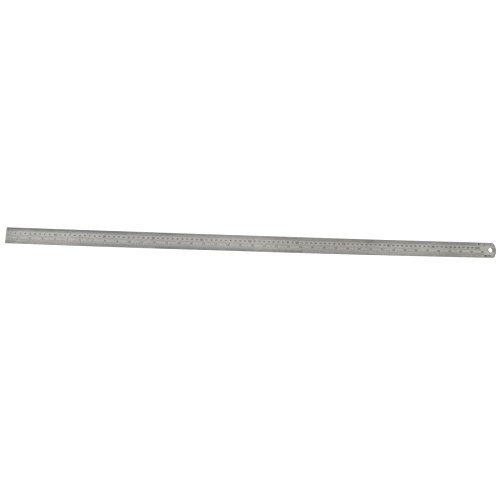 Large Stainless Steel Ruler 1m / 40inch Metric / Imperial Conversion Table TE597 by A B Tools ()