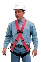 MSA 415947 FP Pro Vest Style Harness with Qwik-Fit Leg Strap Buckle, 1 Back D-Ring, -