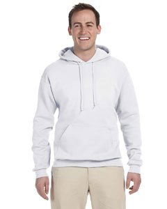 Jerzees 8 oz. NuBlend 50/50 Pullover Hood, White - Large