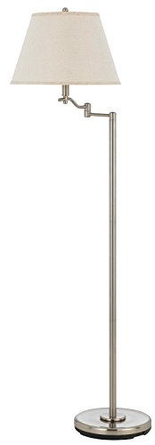 - Cal Lighting BO-2350FL-BSBO-2350FL-BS Dana Swing Arm Floor Lamp, 150-watt, 13.5