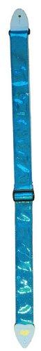 LM Products AL-GB Alexis Guitar Strap, Blue - Vinyl Guitar Strap