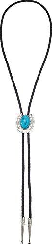 M&F Western Unisex Bolo Tie Horseshoe/Black/Turquoise One Size