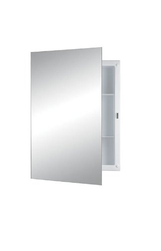 NuTone N/A Builder Recess Mount Cabinet with Frameless Mirror and Pencil