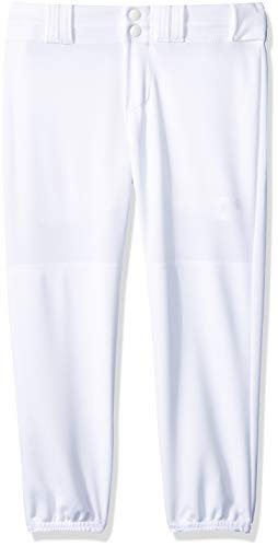 Alleson Athletic Girls Fast pitch Softball Belt Loop Pants, White, X-Large