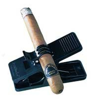 Cigar Minder Clip -  All Purpose Cigar Holder (Black)