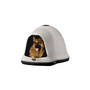 Petmate Dogloo with Microban 90-125 lb Taupe/Black  sc 1 st  Amazon.com & Amazon.com : Petmate Dogloo with Microban 90-125 lb Taupe/Black ...