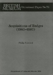 Acquisitions of Badges (1983-87) (British Museum Press Occasional Paper)