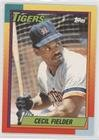 Topps Traded 1990 Baseball (Cecil Fielder (Baseball Card) 1990 Topps Traded - [Base] - Factory Set White Back #31T)