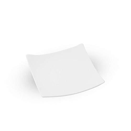 Korin Fusion White Square Plate 6.5