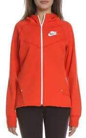 Nike Felpa Zip Sportswear Tech Fleece Windrunner Donna Rosso