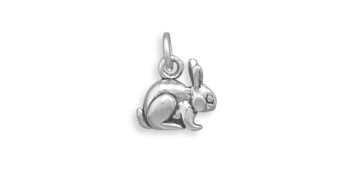 erling Silver Bunny Rabbit Charm (Sterling Silver Rabbit Charm)