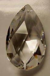 - 50mm Swarovski Strass Teardrop Crystal Prisms #8721-50