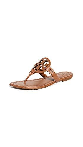 Tory Burch Women's Miller Flip Flops, Tan, 8.5 Medium US