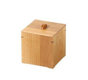 Yamako Wooden Sanitary Napkin Floor Receptacle Alder 50152 Made in Japan