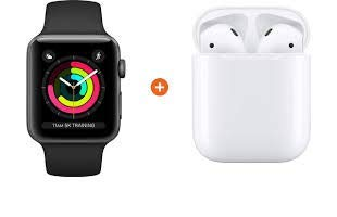 Relógio Apple Watch Series 5 40mm Space Gray com Fone de Ouvido Sem Fio Apple AirPods Pro