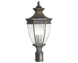 Kichler 9898TZ Three Light Outdoor Post Mount