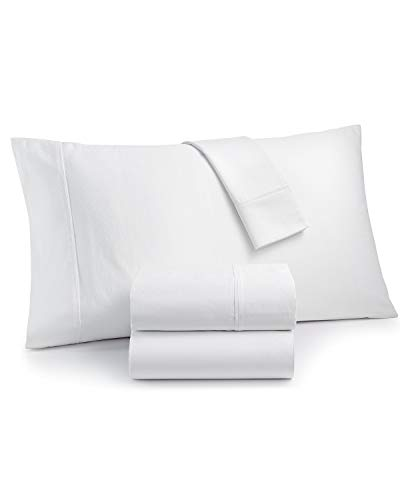 Charter Club Sleep Luxe 700 Thread Count 100% Egyptian Cotton Dobby Dot 4 Piece King Sheet Set White (Cotton Dobby Dot)